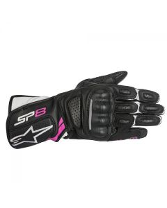 ALPINESTARS STELLA SP-8 V2 GLOVE BLACK/WHITE/FUCHSIA
