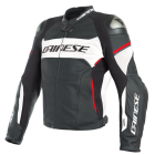 DAINESE RACING 3 D-AIR  LEATHER JACKET BLACK/WHITE/RED