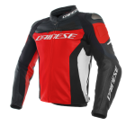 DAINESE RACING 3 LEATHER JACKET RED/BLACK/WHITE
