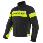 DAINESE SAETTA D-DRY JACKET BLACK/FLUO YELLOW