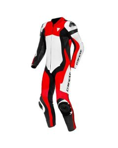 DAINESE ASSEN 2 1 PIECE PERFORATED SUIT WHITE/LAVA-RED/BLACK
