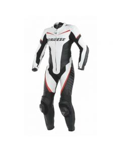 DAINESE RACING LADIES 1PC SUIT BLACK/WHITE/FLUO RED