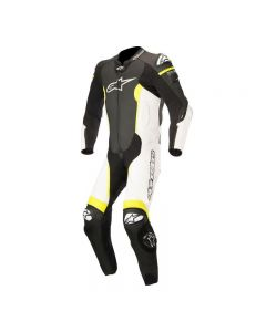 ALPINESTARS MISSILE LEATHER SUIT TECH AIR - BLACK/WHITE/YELLOW FLUO