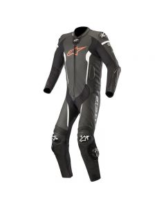 ALPINESTARS MISSILE LEATHER SUIT TECH AIR - BLACK/RED FLUO/WHITE