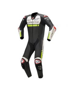 ALPINESTARS MISSILE IGNITION 1PC SUIT BLACK WHITE YELLOW FLUO