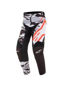 ALPINESTARS YOUTH RACER TACTICAL PANTS BLACK/GREY/CAMO/FLUO RED