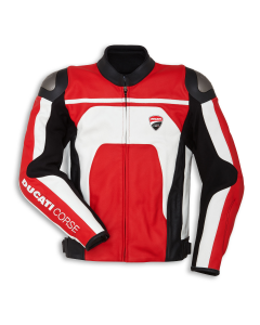 DUCATI CORSE C4 LEATHER JACKET RED/WHITE