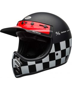 BELL MOTO 3 FASTHOUSE CHECKERS BLACK/WHITE/RED