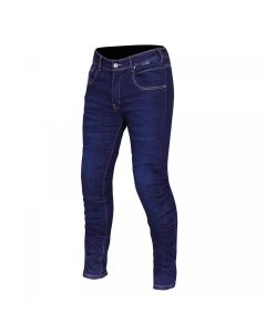 ROUTE ONE PEYTON WR LADIES JEANS BUILT WITH KEVLAR NAVY SHORT LEG
