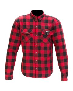 MERLIN AXE RIDING SHIRT BUILT WITH KEVLAR® RED/CHECK