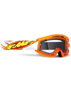 FMF POWERCORE YOUTH GOGGLE ORANGE/GREY - CLEAR LENS