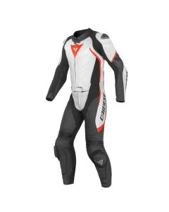 DAINESE AVRO D1 2PC SUIT BLACK/RED/WHITE